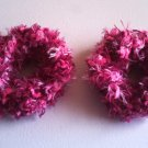 Pigtail Hair Scrunchie Scrunchies Pair~ Pink Powder~ Free Shipping