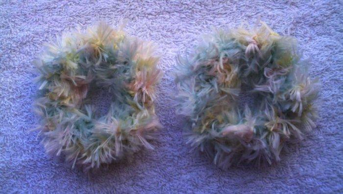 Pigtail Hair Scrunchie Scrunchies Pair~ Pastel~ Free Shipping