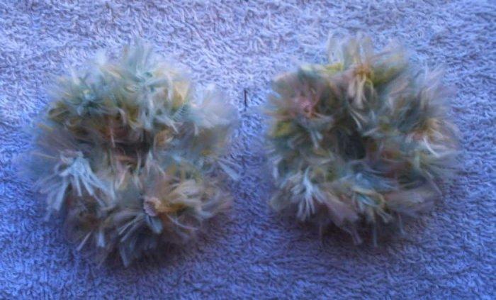 Baby/Toddler  Hair Scrunchie Scrunchies Pair~ Pastel    ~ Free Shipping