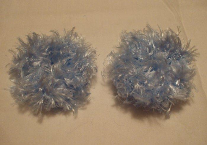 Baby/Toddler  Hair Scrunchie Scrunchies Pair~ Light Blue~ Free Shipping