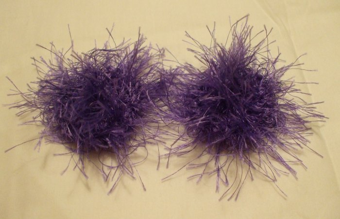 Baby/Toddler  Hair Scrunchie Scrunchies Pair~ Violet~ Free Shipping