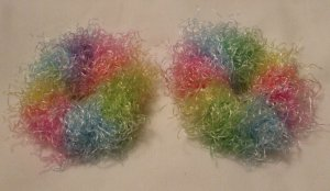 Baby/Toddler  Hair Scrunchie Scrunchies Pair~ Bunny Hop~ Free Shipping