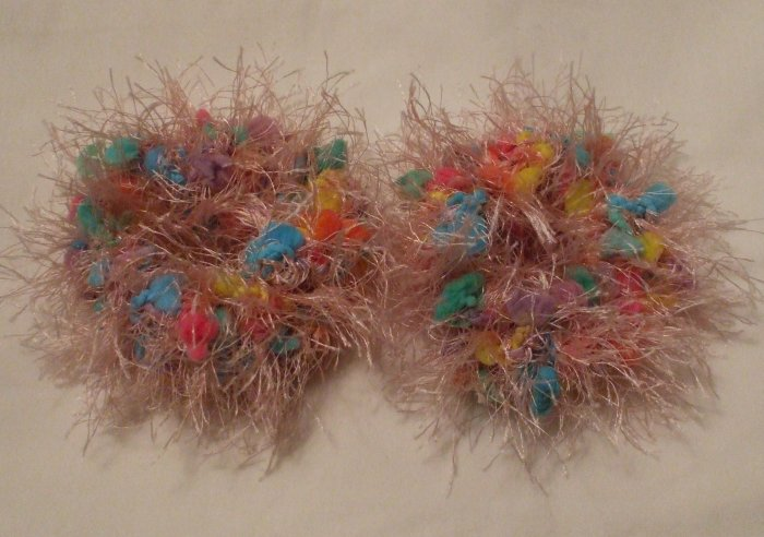 Pigtail Hair Scrunchie Scrunchies Pair~ Pretty In Pink~ Free Shipping