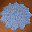 Boy's~ Blue~  Round Baby Blanket Afghan~ Throw~ Free Shipping