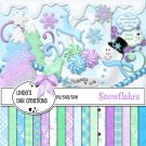 Snowflakes Digital Scrapbooking Kit