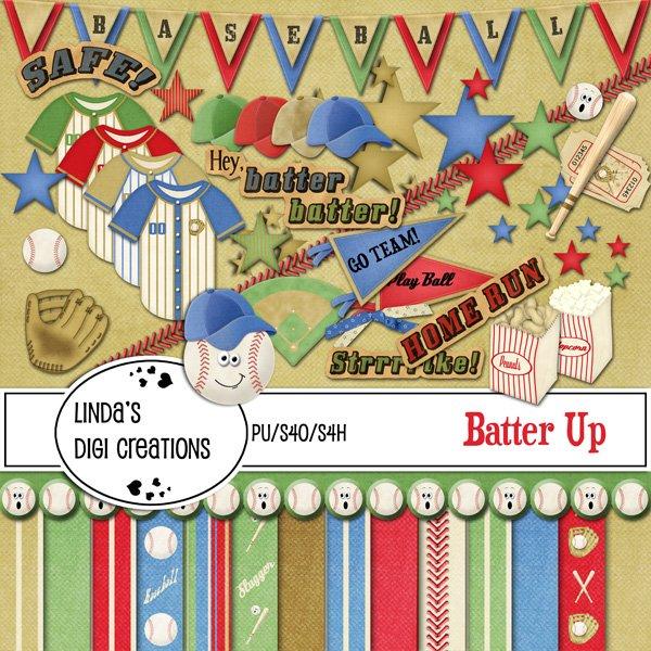 Batter Up Digital Scrapbooking Kit