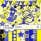 Let's Cheer #5 Yellow & Blue Digital Scrapbooking Kit