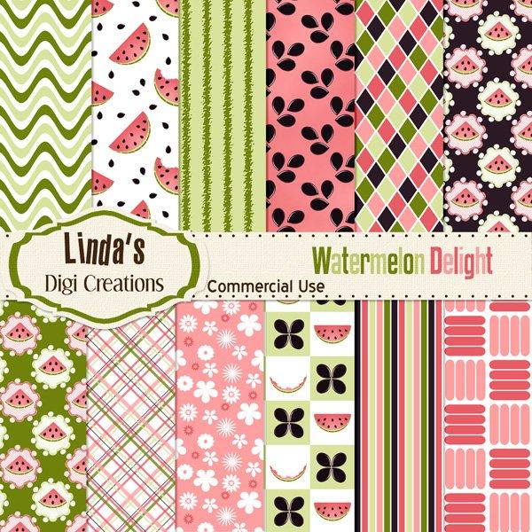 Watermelon Delight (Digital Paper Pack)