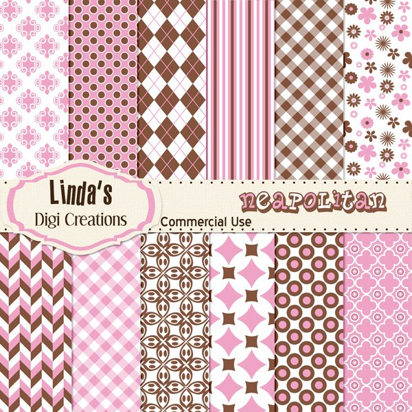 Neapolitan (Digital Paper Pack)