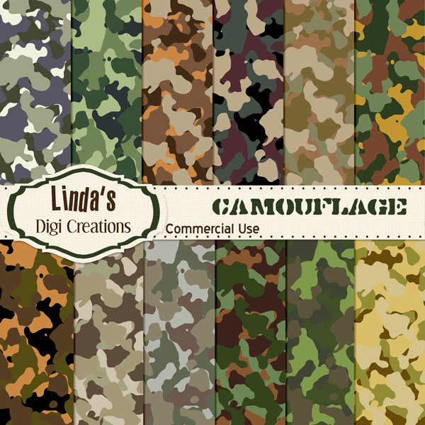 Camouflage (Digital paper Pack)
