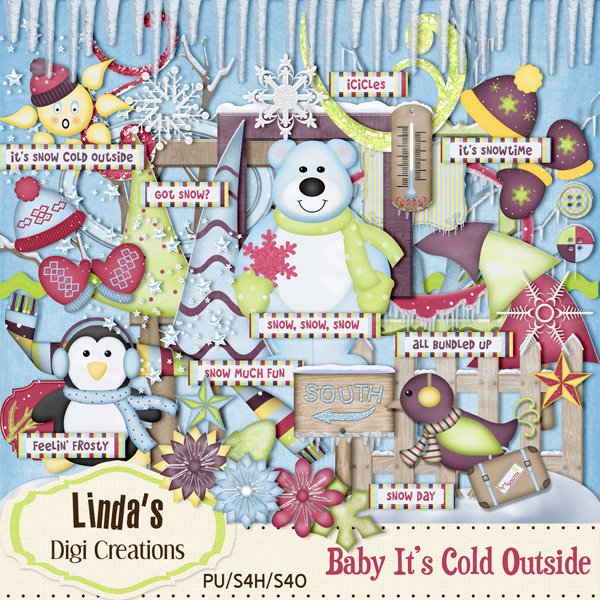 Baby It's Cold Outside (Digi Scrap Kit)
