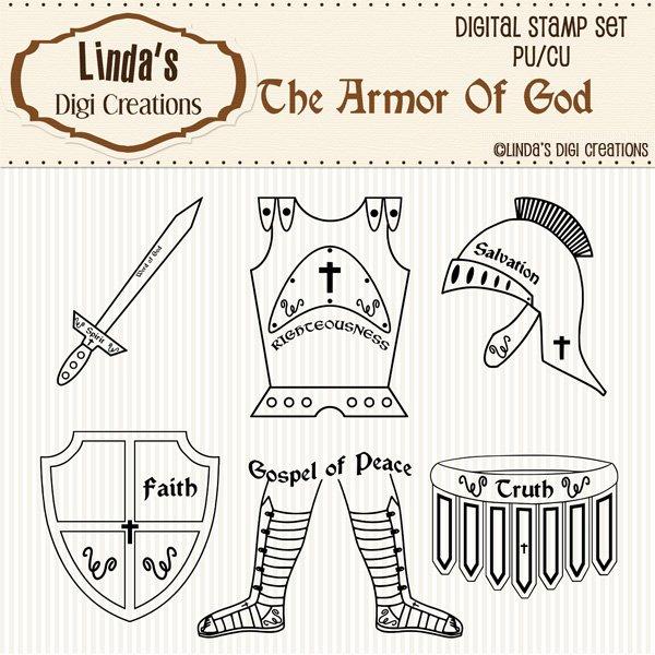 The Armor Of God (Digi Stamp Set)