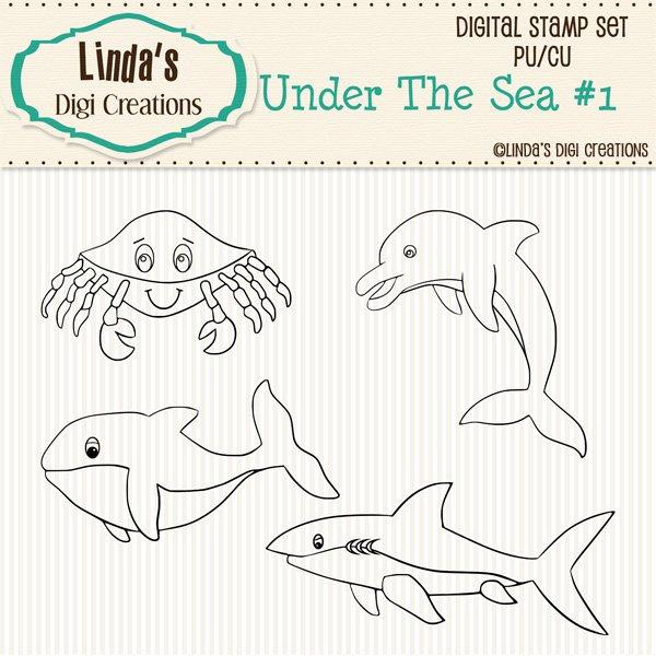 Under The Sea #1 (Digi Stamp Set)