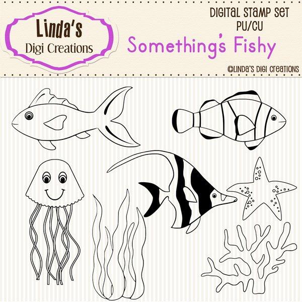 Something's Fishy (Digi Stamp Set)