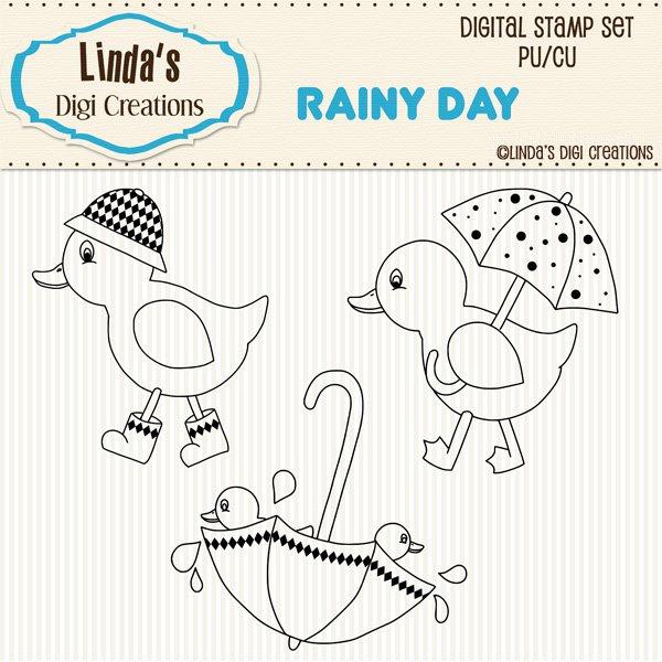 Rainy Day (Digi Stamp Set)