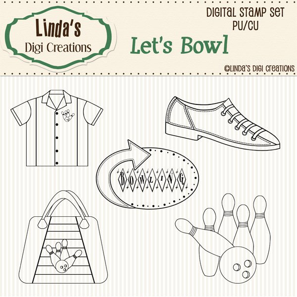 Let's Bowl (Digi Stamp Set)