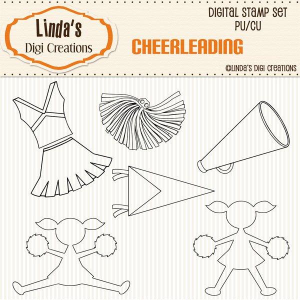 Cheerleading (Digi Stamp Set)