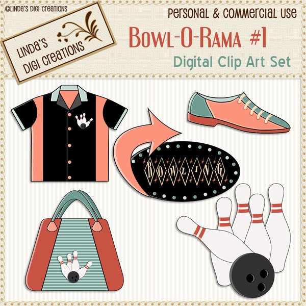 Bowl-O-Rama #1 (Clip Art Set)
