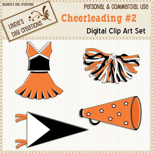Cheerleading #2 (Clip Art Set)