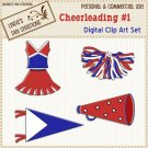 Cheerleading #1 (Clip Art Set)