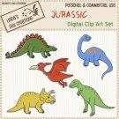Jurassic (Clip Art Set)