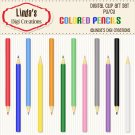 Colored Pencils (Clip Art Set)