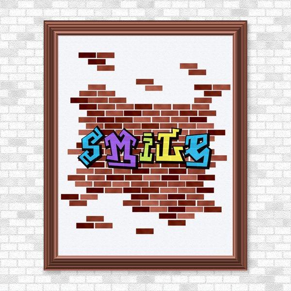 Smile - Graffiti - Printable Wall Art