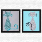 Cats - Paisley Set - Printable Wall Art