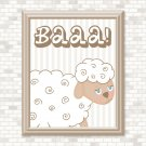 White Sheep Printable Wall Art