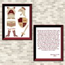 Armor Of God (Burgundy Set) Printable Wall Art