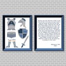 Armor Of God (Blue Set) Printable Wall Art