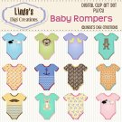 Baby Rompers (Clip Art Set)