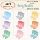 Baby Booties (Clip Art Set)
