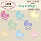 Baby Carriages (Clip Art Set)