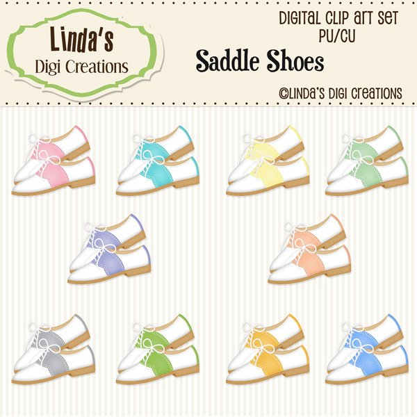 Saddle Shoes (Clip Art Set)