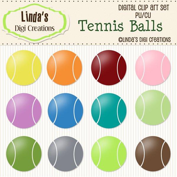 Tennis Balls (ClipArt Set)