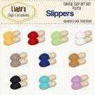 Slippers (Clip Art Set)