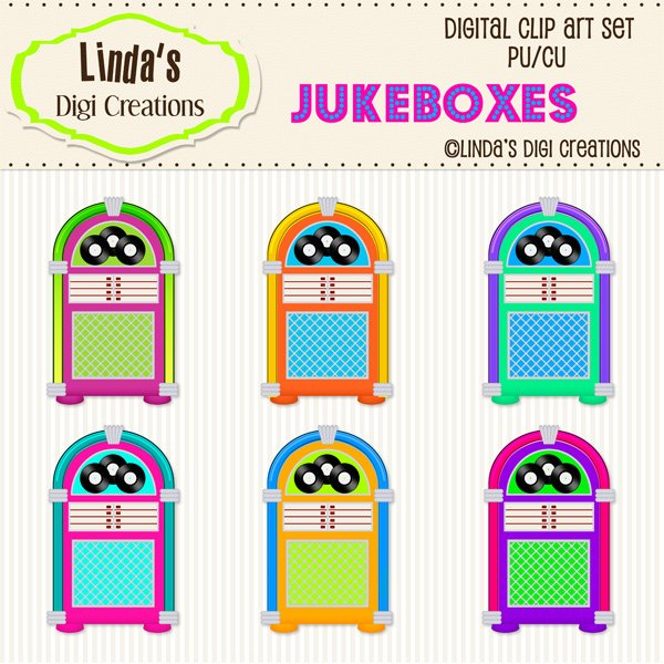 Jukeboxes (ClipArt Set)