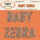 Baby Zebra Digital Alpha Set