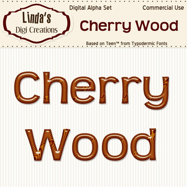Cherry Wood Digital Alpha Set