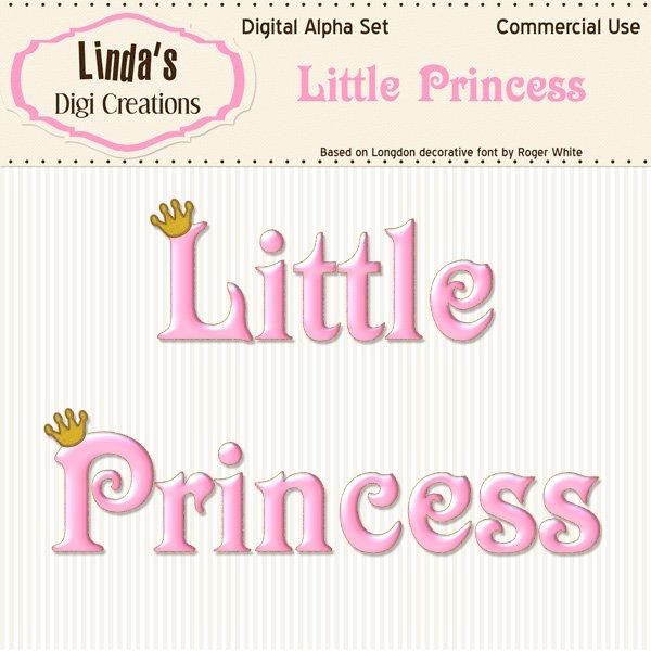 Little Princess Digital Alpha Set
