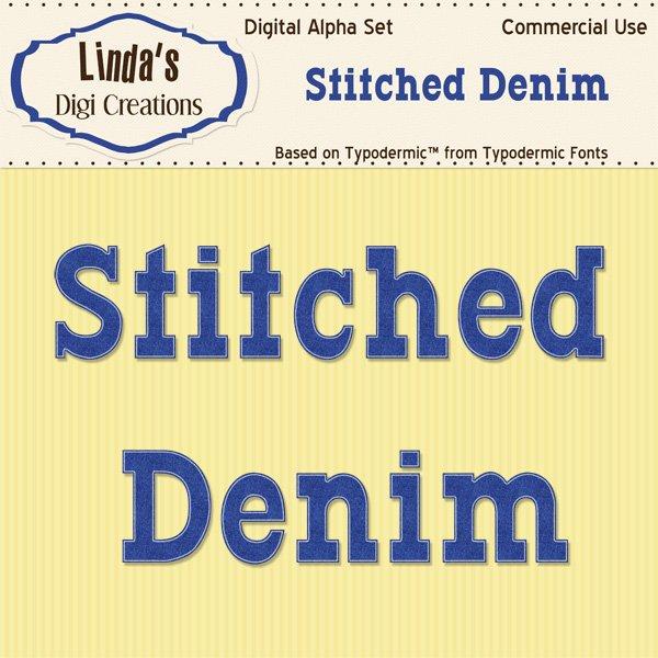 Stitched Denim Digital Alpha Set