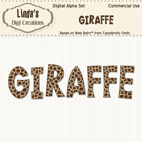 Giraffe Alpha Set