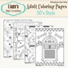 50's Style Adult Coloring Pages (Digital)