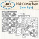 Game Night Printable Adult Coloring Pages