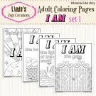 I Am Printable Adult Coloring Pages Set 1