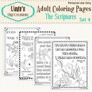The Scriptures Printable Adult Coloring Pages Set 4