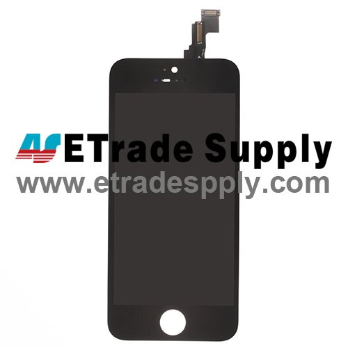 OEM Apple iPhone 5C LCD Screen and Digitizer Assembly with Frame - Black