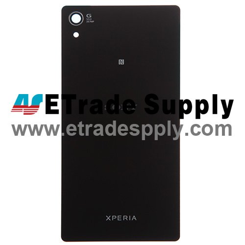 OEM Sony Xperia Z2 Battery Door - Black - With Sony Logo Only