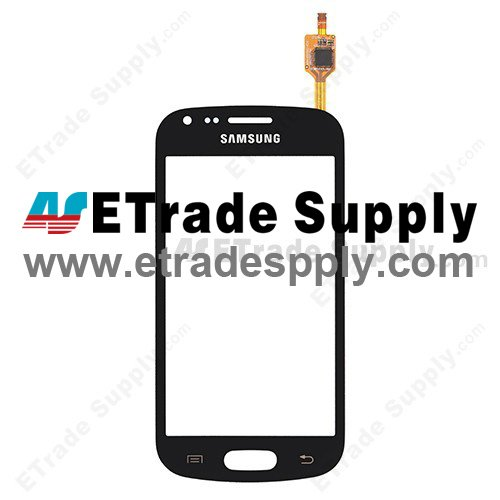 OEM Samsung Galaxy S Duos GT-S7562 Digitizer Touch Screen - Black - With Samsung Logo Only